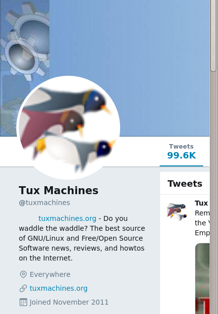 @tuxmachines in Twitter