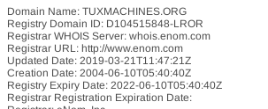 tuxmachines at whois