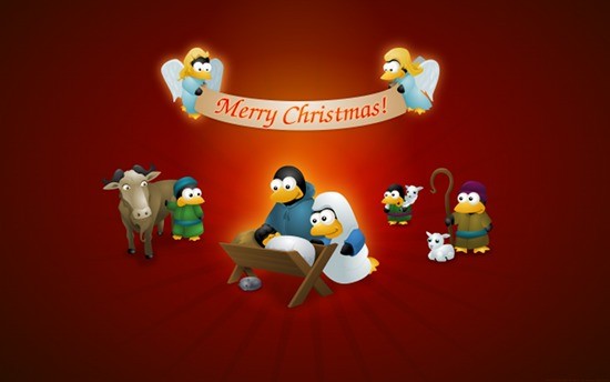 Linux Tux penguin.